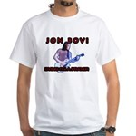 Jon Bovi White T-Shirt