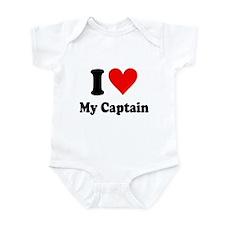 I Love My Captain: Infant Bodysuit
