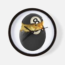 Billiards Chick Wall Clock
