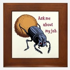 Ask Me About My Job Framed Tile