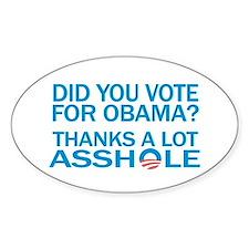 Anti-Obama Oval Bumper Stickers