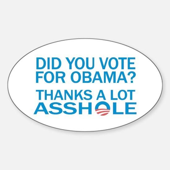 Anti-Obama Oval Decal
