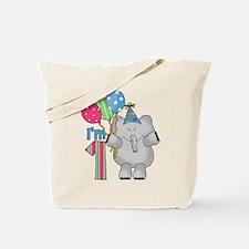 Lil Elephant First Birthday Tote Bag