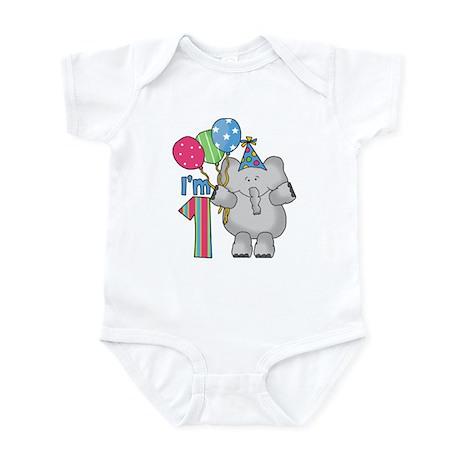 Lil Elephant First Birthday Infant Bodysuit