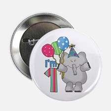 "Lil Elephant First Birthday 2.25"" Button"