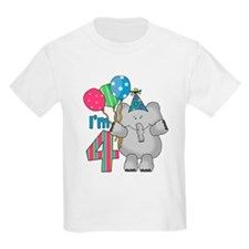 Lil Elephant 4th Birthday T-Shirt