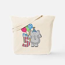 Lil Elephant 5th Birthday Tote Bag