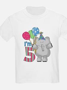 Lil Elephant 5th Birthday T-Shirt