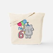 Lil Elephant 6th Birthday Tote Bag