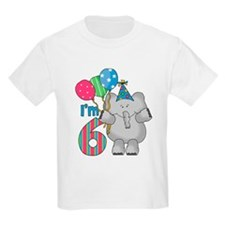 Lil Elephant 6th Birthday T-Shirt