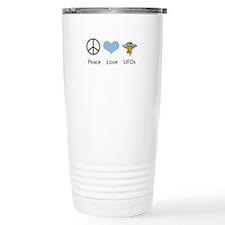 Peace Love UFOs Travel Mug