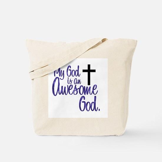 Awesome God Tote Bag
