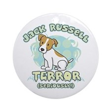 Jack Russell Terror Ornament (Round)