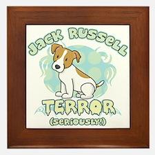 Jack Russell Terror Framed Tile