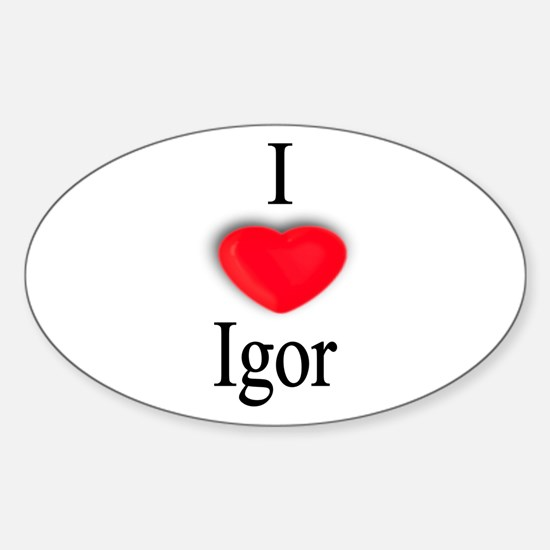 Igor Oval Decal