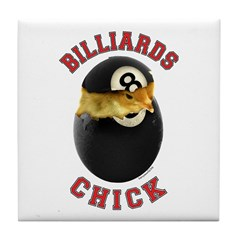 Billiards Chick 2 Tile Coaster