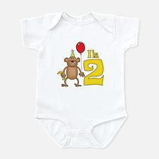Funny Monkey 2nd Birthday Infant Bodysuit