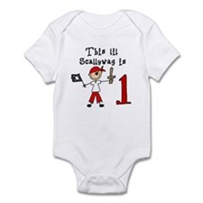 Stick Pirate First Birthday Infant Bodysuit
