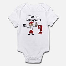 Stick Pirate 2nd Birthday Infant Bodysuit