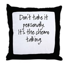 Cute Chemo Throw Pillow