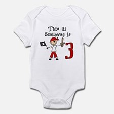 Stick Pirate 3rd Birthday Infant Bodysuit