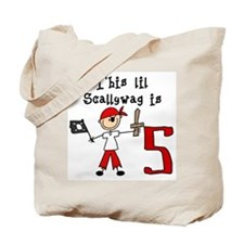 Stick Pirate 5th Birthday Tote Bag