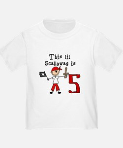 Stick Pirate 5th Birthday T