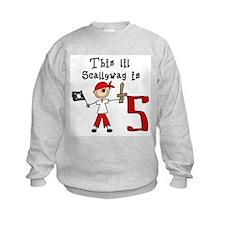 Stick Pirate 5th Birthday Sweatshirt