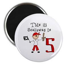 Stick Pirate 5th Birthday Magnet