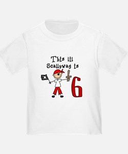 Stick Pirate 6th Birthday T
