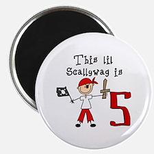 Stick Pirate 6th Birthday Magnet