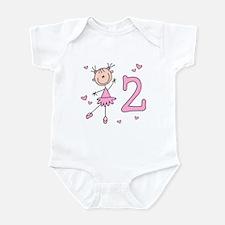 Stick Ballerina 2nd Birthday Infant Bodysuit