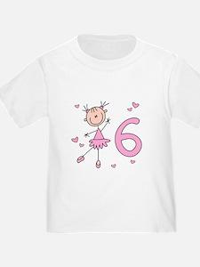 Stick Ballerina 6th Birthday T