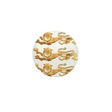 Three Gold Lions Mini Button