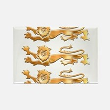 Three Gold Lions Rectangle Magnet (100 pack)