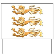 Three Gold Lions Yard Sign
