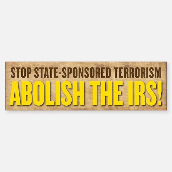 IRS Terrorism Bumper Bumper Bumper Sticker