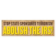 IRS Terrorism Bumper Bumper Sticker