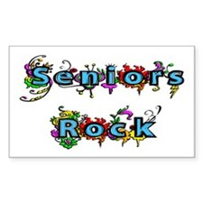 Seniors Rock Rectangle Decal