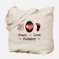 Peace Love Podiatry Tote Bag