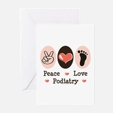 Peace Love Podiatry Greeting Cards (Pk of 10)