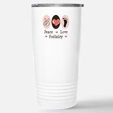 Peace Love Podiatry Stainless Steel Travel Mug