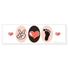 Peace Love Podiatry Bumper Bumper Sticker