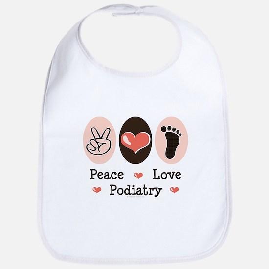 Peace Love Podiatry Bib