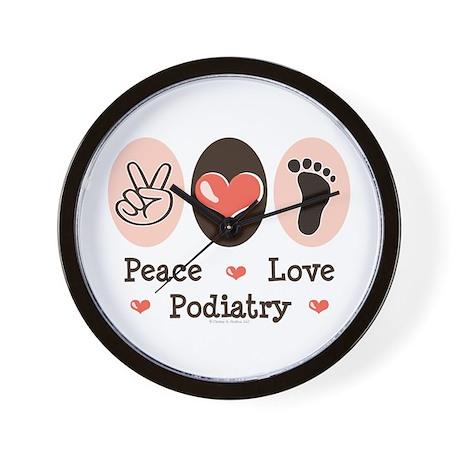 Peace Love Podiatry Wall Clock