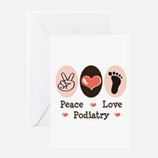 Peace Love Podiatry Greeting Card