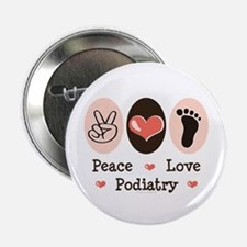 "Peace Love Podiatry 2.25"" Button (10 pack)"