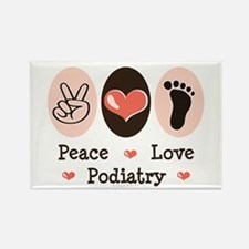 Peace Love Podiatry Rectangle Magnet
