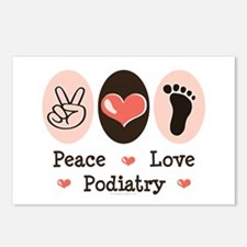 Peace Love Podiatry Postcards (Package of 8)