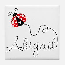 Ladybug Abigail Tile Coaster